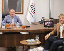 SİİRT TSO BAŞKANI GÜVEN KUZU, ATO BAŞKANI GÜRSEL BARAN'I ZİYARET ETTİ