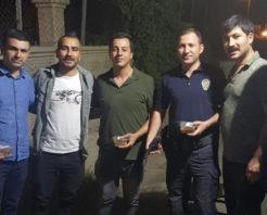 SİİRT ÜLKÜ OCAKLARI ESNAF VE POLİSE AŞURE DAĞITTI