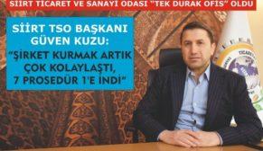 """STSO BAŞKANI KUZU, """" ŞİRKET KURMA PROSEDÜRÜ 7'DEN 1'E İNDİ"""""""
