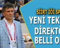 SİİRTSPOR'UN YENİ TEKNİK DİREKTÖRÜ BELLİ OLDU!