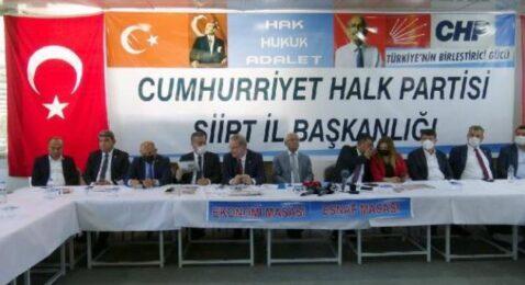 'CHP ESNAF VE EKONOMİ MASASI' SİİRT'TE