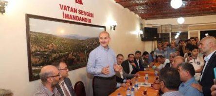 BAKAN SOYLU, İSTANBUL'DAKİ SİİRTLİLERLE BİR ARAYA GELDİ