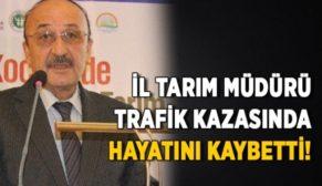 ESKİ SİİRT TARIM MÜDÜRÜ İLHAN ÖZEL TRAFİK KAZASINDA HAYATINI KAYBETTİ