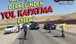 SİİRT SPOR TARAFTARLAR DERNEĞİNDEN YOL KAPATMA EYLEMİ