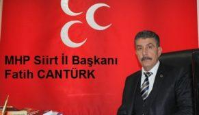 MHP İL BAŞKANI CANTÜRK'TEN 29 EKİM CUMHURİYET BAYRAMI KUTLAMA MESAJI