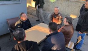 VALİ ATİK, POLİS NOKTASINDA GÖREVLİ KAHRAMANLARI DENETLEDİ