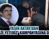 """PROF.DR.YASİN AKTAY'DAN """"BİZBİZE YETERİZ"""" KAMPANYASINA BİR DESTEK DAHA!.."""
