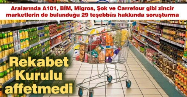 REKABET KURUMU'NDAN 29 FİRMAYA SORUŞTURMA!..