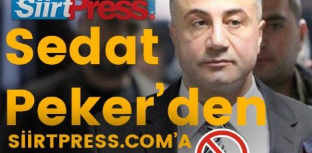 SEDAT PEKER'DEN SİİRTPRESS.COM'A ERİŞİM ENGELİ!..