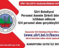 SİİRT BELEDİYESİ 124 PERSONEL ALIMI İÇİN İLANA ÇIKTI..