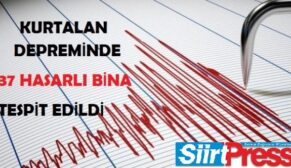 KURTALAN DEPREMİNDE 737 HASARLI BİNA TESPİT EDİLDİ