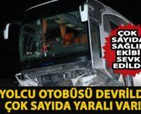SİİRT OTOBÜSÜ GAZİANTEP'TE KAZA YAPTI: 20 YARALI