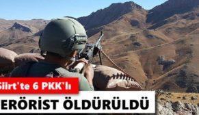 PERVARİ'DE PKK'YA AĞIR DARBE: 6 TERÖRİST ÖLDÜRÜLDÜ