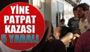 ŞİRVAN'DA PATPAT KAZA YAPTI: 5 YARALI