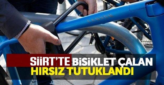 SİİRT'TE BİSİKLET ÇALAN HIRSIZ TUTUKLANDI