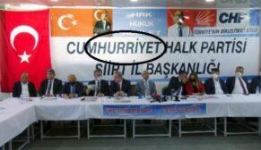 SİİRT'TE CHP'NİN PANKARTTAKİ HARF HATASI DİKKAT ÇEKTİ