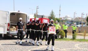 SİİRT'TE KAZADA HAYATINI KAYBEDEN POLİS MEMURUNA HAZİN TÖREN