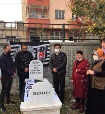 """VASİYETİ ÜZERİNE MEZAR TAŞINA """"BEŞİKTAŞLI"""" YAZILDI"""