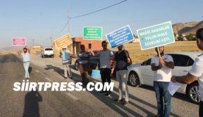 SİİRTLİLER, ÖLÜM YOLUNDA PROTESTO EYLEMİ GERÇEKLEŞTİRDİ