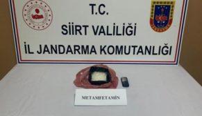 SİİRT'TE 400 GRAM METAMFETAMİN İLE YAKALANAN ŞAHIS TUTUKLANDI