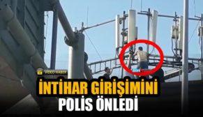 SİİRT'TE İNTİHARA TEŞEBBÜS EDEN ŞAHSI POLİS İKNA ETTİ