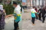 SİİRT'TE TARAFTARLAR 'KADINA ŞİDDETE HAYIR' SLOGANIYLA GÜL DAĞITTI