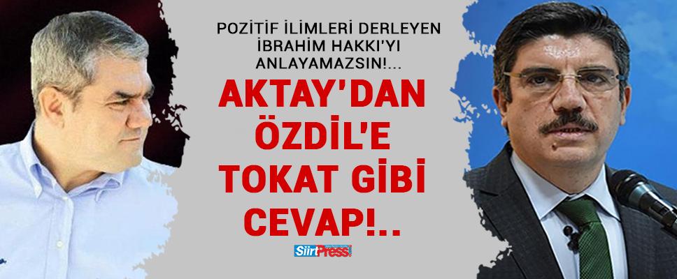 TİLLO EVLİYALARINA DİL UZATAN ÖZDİL'E PROF.DR.YASİN AKTAY'DAN TOKAT GİBİ CEVAP!..