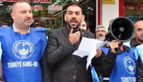 "SİİRT KAMU-SEN'DEN ""EK ZAM"" EYLEMİ"