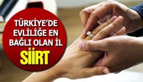 TÜRKİYE'DE EVLİLİĞE EN BAĞLI OLAN İL SİİRT!..