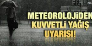 """METEOROLOJİ'DEN """"AŞIRI YAĞIŞ VE KAR"""" UYARISI"""
